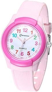 Reloj de pulsera analógico para niños y niñas, resistente al agua, fácil de leer, para niños, como regalo