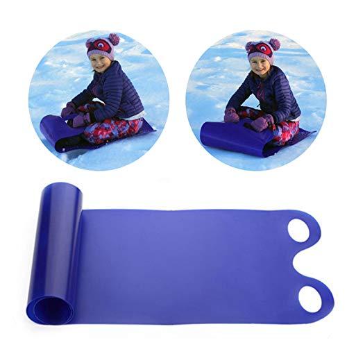 Slittino da neve per bambini adulti e bambini con slittino da neve per sci e snowboard, 137 x 46 cm