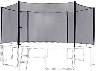 ExacMe 14 Foot Trampoline Replacement Enclosure Outer Net with 6 Poles, for 6 W-Legs, 6180-N014