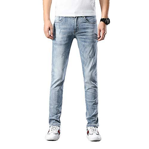 Heren-spijkerbroek Lente en zomer Slanke pasvorm Vernietigde skinny jeans Modieuze, doorlopende stijl wandelende dagelijkse werkbroek 29