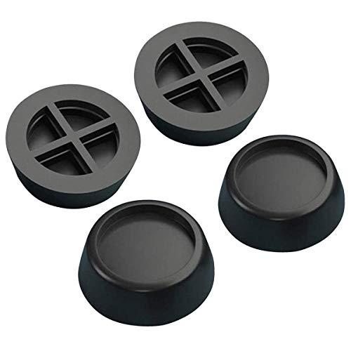 BoloShine 4 Stück Schwingungsdämpfer Waschmaschine, Universal Vibrationsdämpfer Antivibrationsmatte Gummifüße für Laufband Tisch Stuhl Waschmaschinen Trockner (Schwarz)