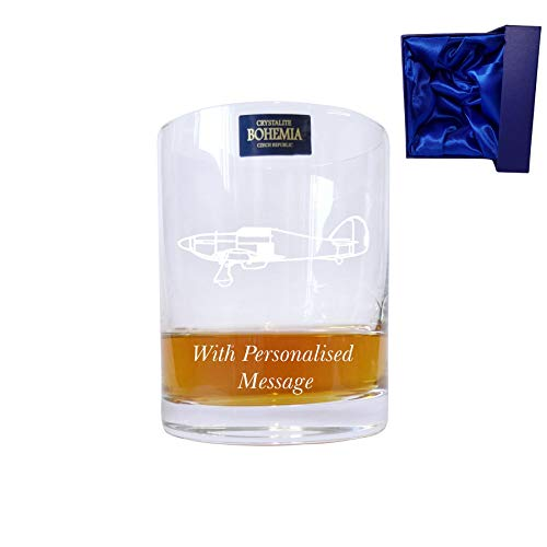 Pair of Bohemia Crystal Whisky Glasses With Harley Davidson Design With presentation box - Engraving up to 30 personaggi con confezione