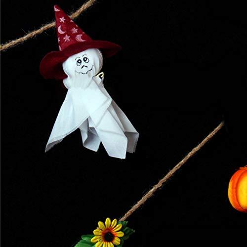 OIUY Halloween Colgante Fantasma Manga de Viento Spook Bruja espantapájaros mu?eca decoración de Fiesta de Vacaciones Patio césped jardín pincho de Calabaza de Burbujas