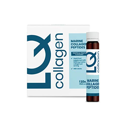LQ Marine Collagen Peptides - Premium Collagen (5000mg), Tropical Fruits Flavour with Stevia Health & Beauty Supplement (10 Days)