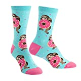 Sock It To Me Women's Snackin' Sloth Donut Crew Socks