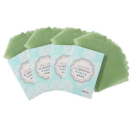Feuilles absorbantes de papier buvard absorbant le contrôle de l'huile de thé vert, 320 feuilles
