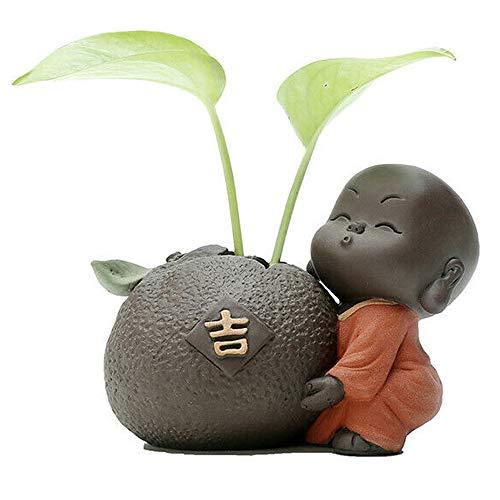 Creative Little Monk Tea Pet Ornaments Tray Accessories Mini Hydroponic Vase