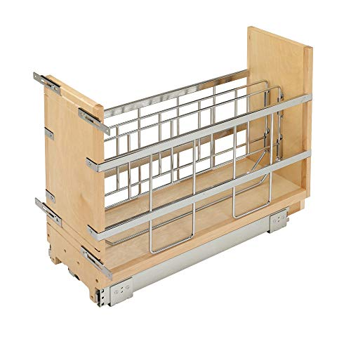 Rev-A-Shelf 447-BCBBSC-8C 447 Series 8-Inch Wide Pull Out Foil, Wrap, Sheet, and Tray Divider Cabinet Organizer for Kitchen Base Cabinets New Hampshire