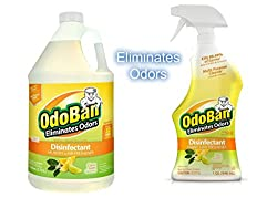 Buy OdoBan Ready-to-Use 32oz Spray Bottle and 1 Gal Concentrate via Amazon