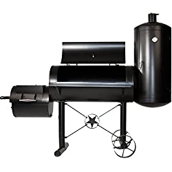 Premium BBQ Grill Smoker Räucherofen Grilllok Garen XXL 212 x 172 x 80 cm, 105 kg, Transporträder, Temperaturanzeige, Stahlblech, Lüftungsklappen, Räucherkammer, Grillbox 100x47 cm, Feuerbox, Ablagefläche