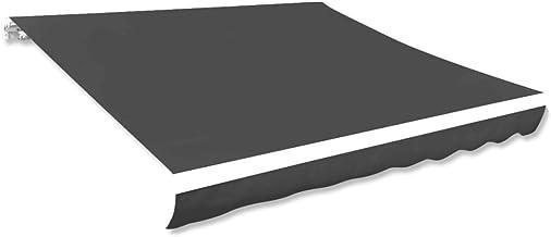 vidaXL Luifeldoek 281x246 cm Canvas Antraciet Luifel Zonwering Zonnescherm Kap