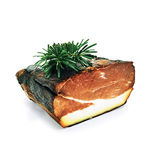 Original Tannenrauch Schinken | 800 g | 3 Monate Reifezeit | Rohschinken luftgetrocknet am Stück | geräucherter Schinken | Smoked Ham | geräuchert Schinken aus Bayern