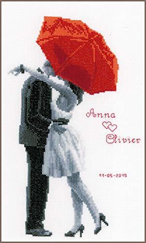 Vervaco Counted Cross Stitch Kit: Onder mijn rode paraplu, N\A, 20 x 31cm