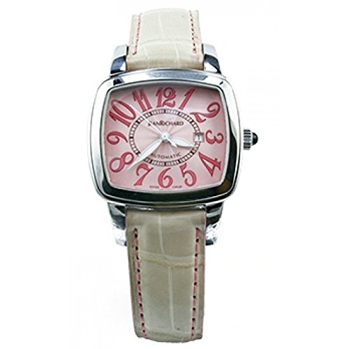 Jean Richard Women's Automatic Beige Calfskin Date Watch 26113-11-91B-AA9D