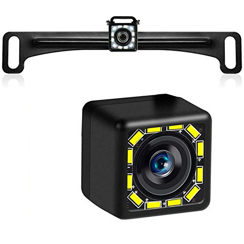 Car License Plate Backup Camera 12LED Universal Vehicle Rear View Parking Camera