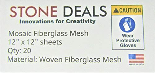"""Stone Deals Mosaic Mesh for Back Mounted Tile 12"""" x 12"""" (Twenty Sheets), Non Sticky"""