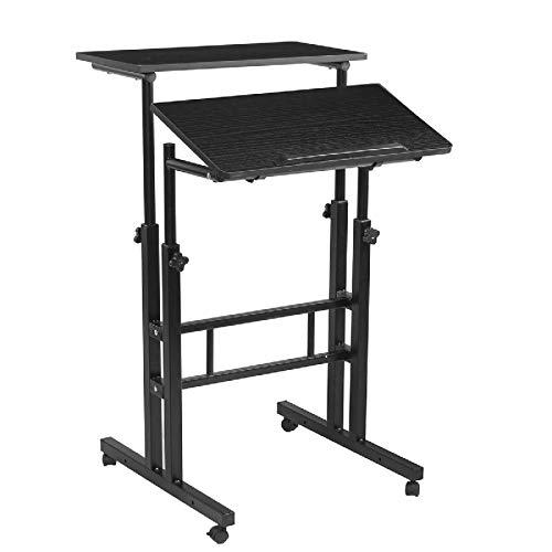 Belleashy Mesa de escritorio para ordenador portátil, portátil, portátil, portátil, simple, moderna, multifuncional, mesa de estudio, para trabajo, estudio, etc. (tamaño: tamaño libre; color: negro)