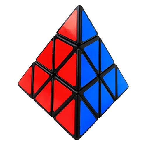 Coolzon Zauberwürfel Pyraminx Speedcube, Puzzle Cube Speed Magic Cube Pyramide Dreieck Würfel Pyramid Cube, PVC Aufkleber