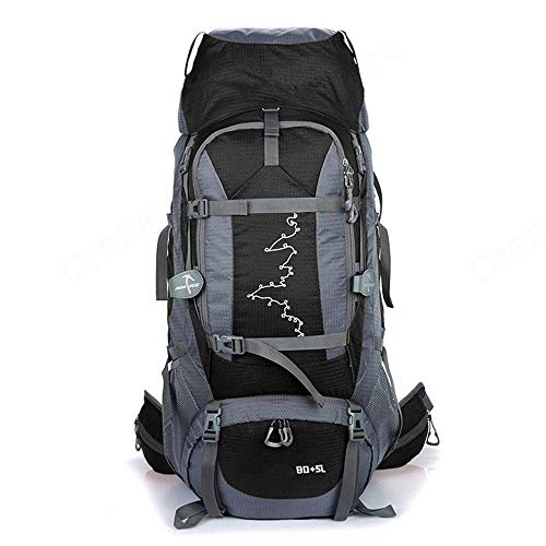 SHRAY Backpack Hiking The Grand 85L Waterproof Travel Bag for Men and Women Trekking Rucksack, Travelling Hiking Backpack for Outdoor, Travel, Camping Black