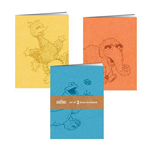 Sesame Street Notebooks: Set of 3 Ruled Notebooks