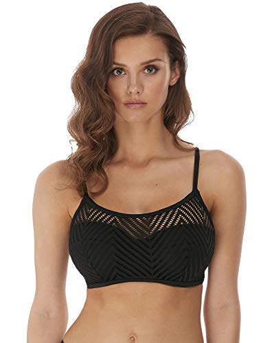 Freya Womens Urban Underwire Bralette Bikini Top, 34F, Night