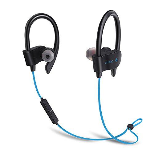 Auricolari Wireless Bluetooth 4.1 Headset Stereo Cuffie Sportive a Prova di Sudore con Microfono e DSP Riduzione Rumore Headphone - Blu