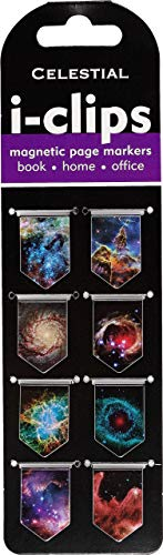 Celestial i-clips Magnetic Page Markers (Set of 8 Magnetic Bookmarks)