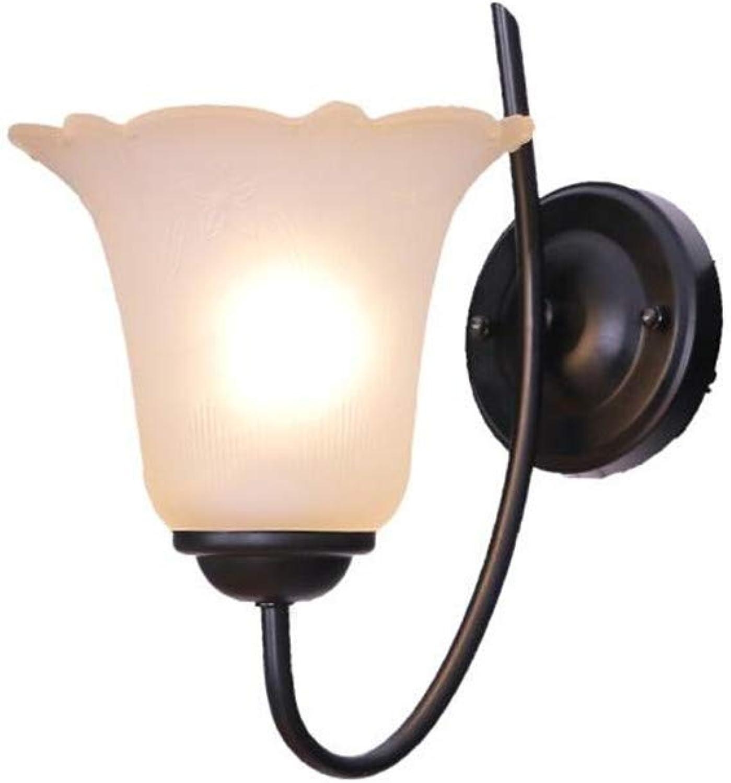 HRCxu Wandleuchten Wandlampe Gang Wohnzimmer Hall TV Hintergrund Wand hngende Wandlampe kreatives Schlafzimmer Nachttisch Wandlampe Flur Korridor Innen Schmiedeeisen Retro-Lampe 35  30cm