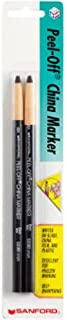 Sharpie 2173PP Peel-Off China Markers, Black, 2-Count