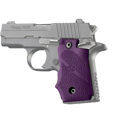 Hogue 38006 SIG Sauer P238 Rubber Grip with Finger Grooves, Purple