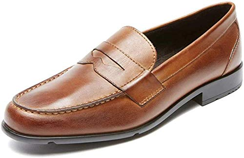 Rockport mens Classic Penny Loafer, Cognac, 10.5 M US