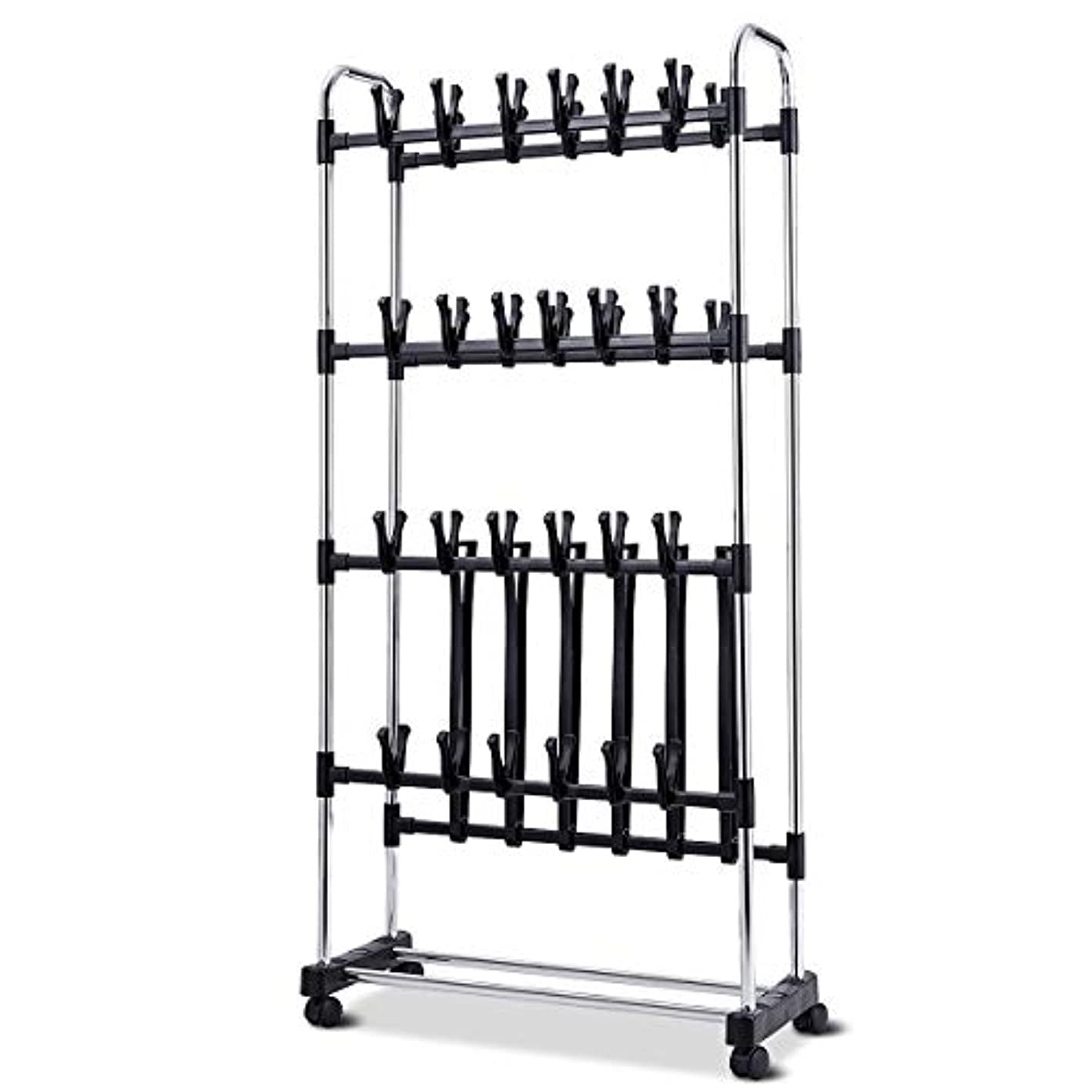LordBee 36 Pairs Clip On Shoe Boot Rack Adjustable Storage Shelf Sturdy Large Space Organizer Furniture Chrome Steel Stable Durable