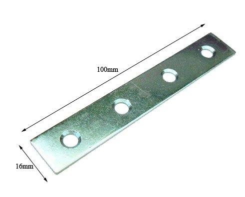 50 unidades cincado pletinas rectas (100 mm)