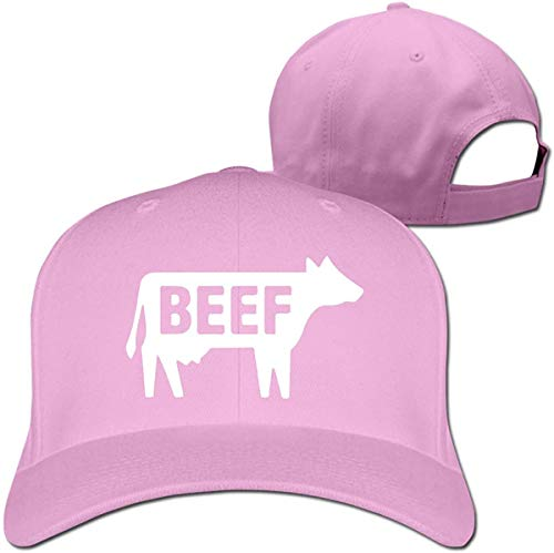 Beef Women Men Baseball Hat Hip Hop Casquette Adjustable,Pink,One Size