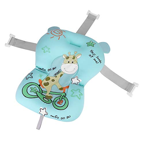 Baby-Badekissen Säuglings Neugeborene Badewannenkissen Anti-Rutsch Badewannensitz Kopf Unterstützung Weiche Kuschelige Baby-Sitzauflage Faltbares Badewanne Kissen Dusche Kissen für 0-12 Monate Baby