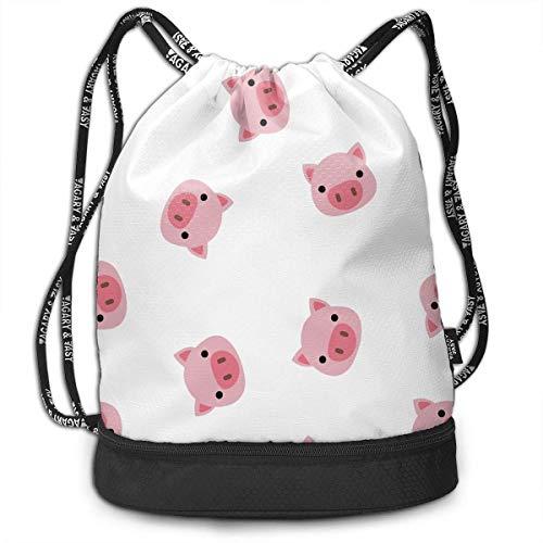PmseK Turnbeutel Sportbeutel Kordelzug Rucksack, Bacon Multifunctional Bundle Backpack Shoulder Bag for Men and Women