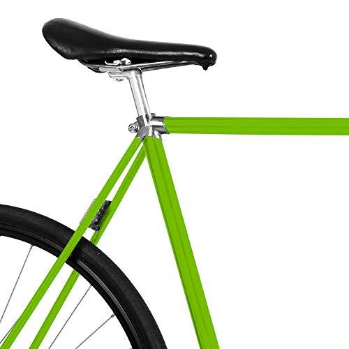 MOOXIBIKE Green Granny gruen Mini Fahrradfolie glänzend für Rennrad, MTB, Trekkingrad, Fixie, Hollandrad, Citybike, Scooter, Rollator für circa 13 cm Rahmenumfang