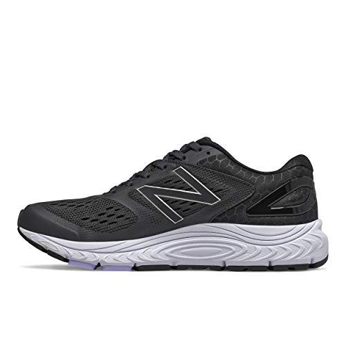 New Balance Women's 840 V4 Running Shoe, Black/White, 8.5 Wide