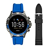 Fossil Touchscreen Smartwatch & 22mm Silicone Watch Band, Black