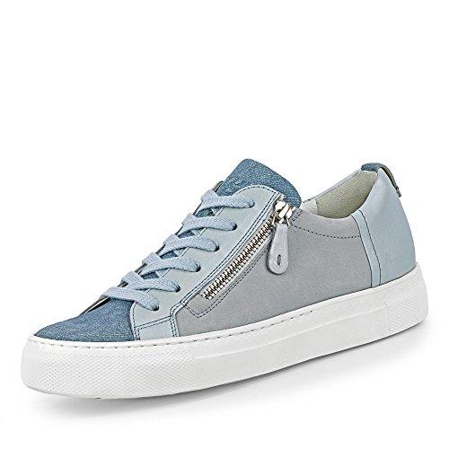 Paul Green 4512-222 Damen Sneaker aus Veloursleder Lederfutter und -innensohle, Groesse 7, hellblau