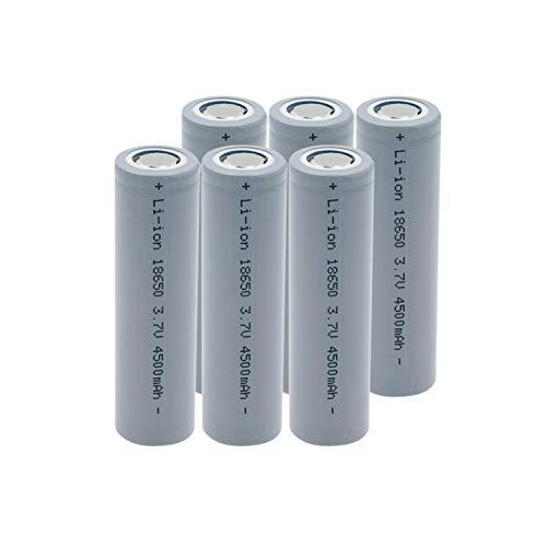 zhoudashu 3.7v 4500mah 18650 Batería De Iones De Litio De Litio, Recargable Adecuada para MicróFono De Linterna De Banco De Energía 6pcs