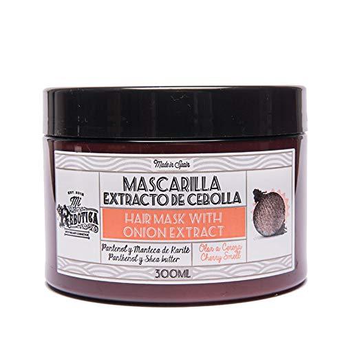 MI REBOTICA | Mascarilla Capilar Nutritiva con Extracto de Cebolla Olor Cereza 300 ml | Vitaminas para el Cabello | Mascarilla Pelo | Manteca de Karité y Pantenol | Fortalece y Estimula Cabello