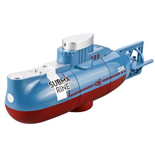 Homoyoyo 1 Juego de Barco de Juguete Submarino Modelo de Barco Juguete de Baño Juguete Eléctrico Subacuático para Bañera Juguetes de Piscina Azul