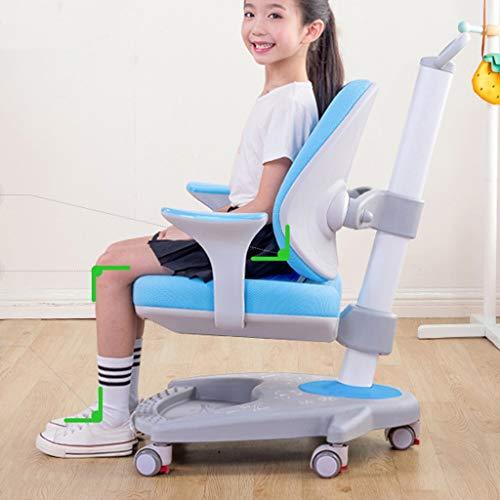 Anti-bult Myopiaadjustable Spine Protection bureaustoel, Study Chair Children's Zitten Correctie Chair, Student Thuis Computer Stoel Ergonomische Stoelen (Color : Blue)