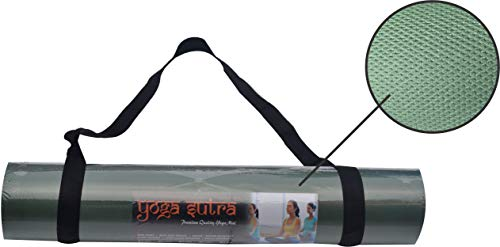 Yoga Sutra Anti-Skid Eva Yoga Mat 6mm Green for Gym Workout and Flooring Exercise for Men & Women