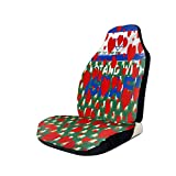 cubierta de asiento de carro Cyloten Heart Pattern Png Bucket Seat Protector Universal Flexible Front Seats Cover Easy Put On and Off Front Seats Cover with Elastic Band Storage Bag for RVs Mini Vehi