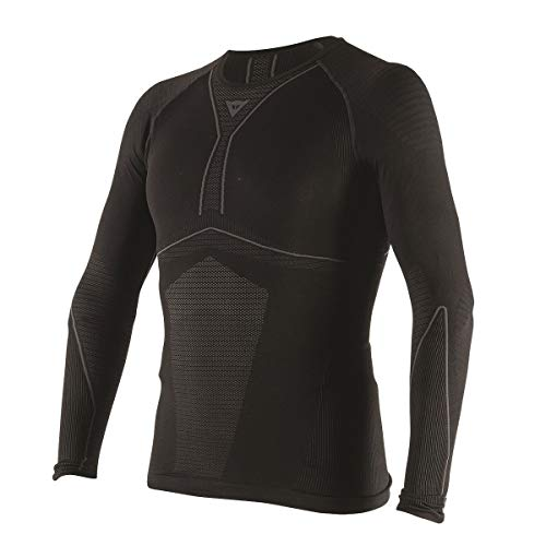 Dainese D-CORE DRY TEE LS Camiseta de Moto, Negro/Antracite, Talla L