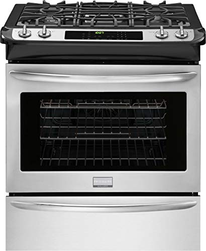 Frigidaire Gallery Series FGGS3065PF 30' Slide-In Gas Range with 4 Sealed Burners in Stainless Steel