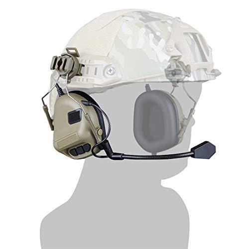Seciie Helm Style Headset Airsoft, Taktischer Headset Militär Helm Jagd Mikrofon Helm Wasserdichter Headset