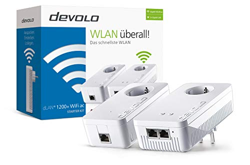 devolo dLAN 1200+ WiFi ac Starter Kit Powerline